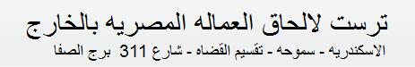 ترست لالحاق العماله المصريه بالخارج